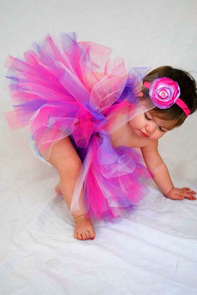 Pink And Purple Princess Tutu Set - Paisley Bows