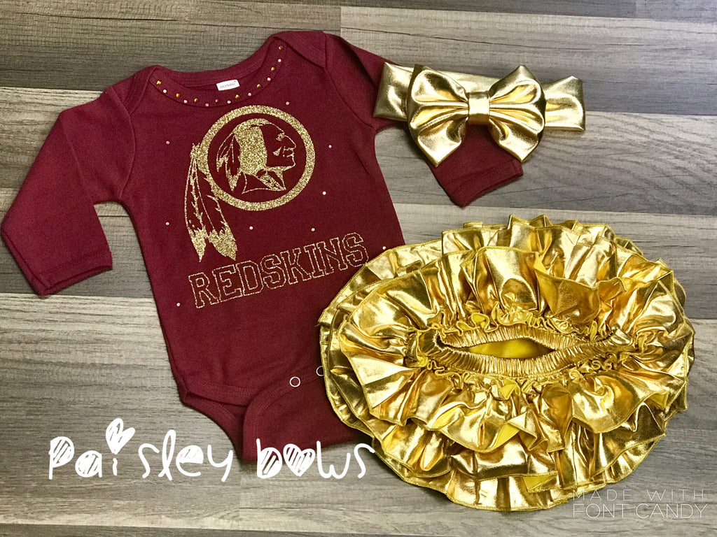Washington Redskins - Paisley Bows