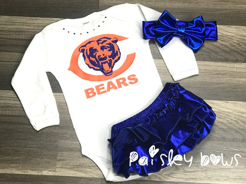 Chicago Bears - Paisley Bows