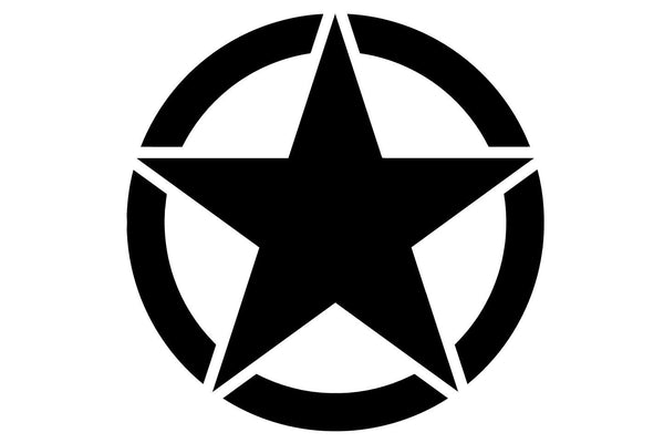 Army Military Star Hood Decal