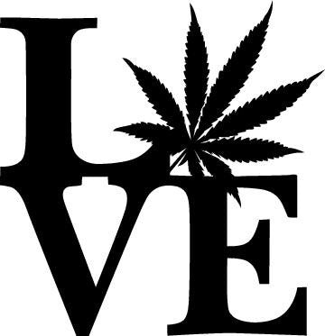 Love Marijuana Pot Leaf