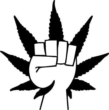 Weed Leaf And Fist