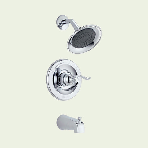 Peerless Chrome 1 Handle Tub Shower Faucet #P88776 - Jenco Wholesale