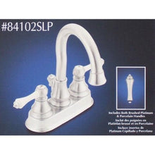 Load image into Gallery viewer, Moen Dorsey Centerset Brushed Platinum Bathroom Faucet  84102SLP - Jenco Wholesale