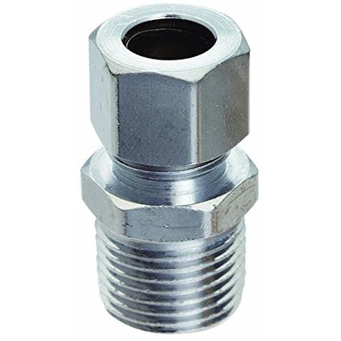 "Do it Chrome Straight Male Fitting Connector, 3/8"" MIP x 3/8"" OD, 425855"