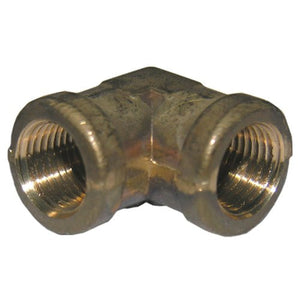 Lasco 1/8-Inch FIP by 1/8-Inch FIP 90 degree Elbow, Brass, 17-9003 - Jenco Wholesale