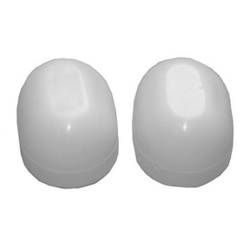 Lasco Oval Toilet Bolt Caps, White, #04-3913 - Jenco Wholesale