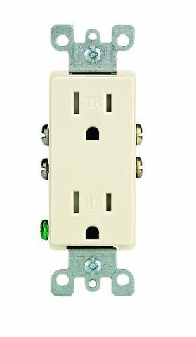 Leviton 201-T5325-A Tamper-Resistant Decorative Grounded Outlet