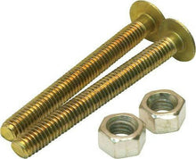 "Load image into Gallery viewer, Partsmaster ProPlus Oval Closet Bolts, 5/16"" x 2-1/4"", Solid Brass, #192258 - Jenco Wholesale"
