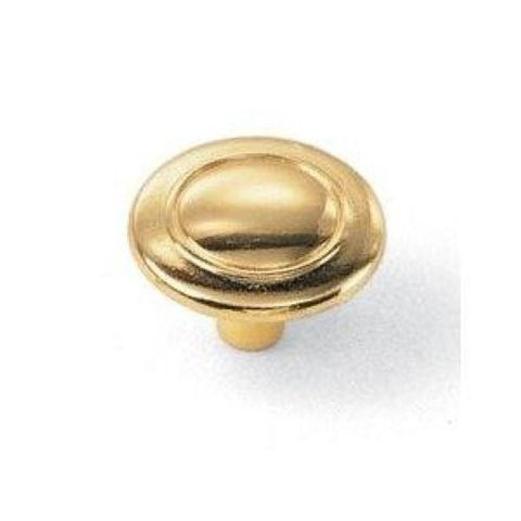 "Laurey #55637 1 1/4"" Knob - Polished Brass - Jenco Wholesale"