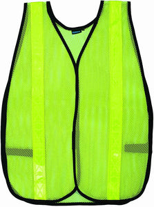 US Safety U00518R14102 High Visibility Polyester Mesh Safety Vest, Lime - Jenco Wholesale