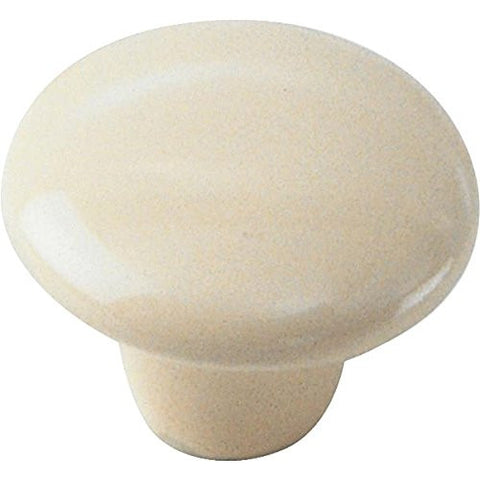"Laurey 1 1/2"" Ceramic Knob - Bone,  #01716 - Jenco Wholesale"