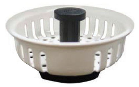Kissler Sink Strainer with Rubber Stopper (White), 759-1995