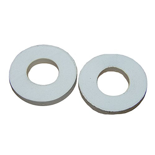 LASCO 02-1755 Rubber Toilet Seat Hinge Mounting Washers, White, 2-Pack - Jenco Wholesale