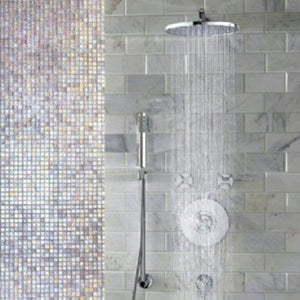 "Jado Contemporary Rain Can Showerhead 8"" Ultra Steel 860208.355 - Jenco Wholesale"