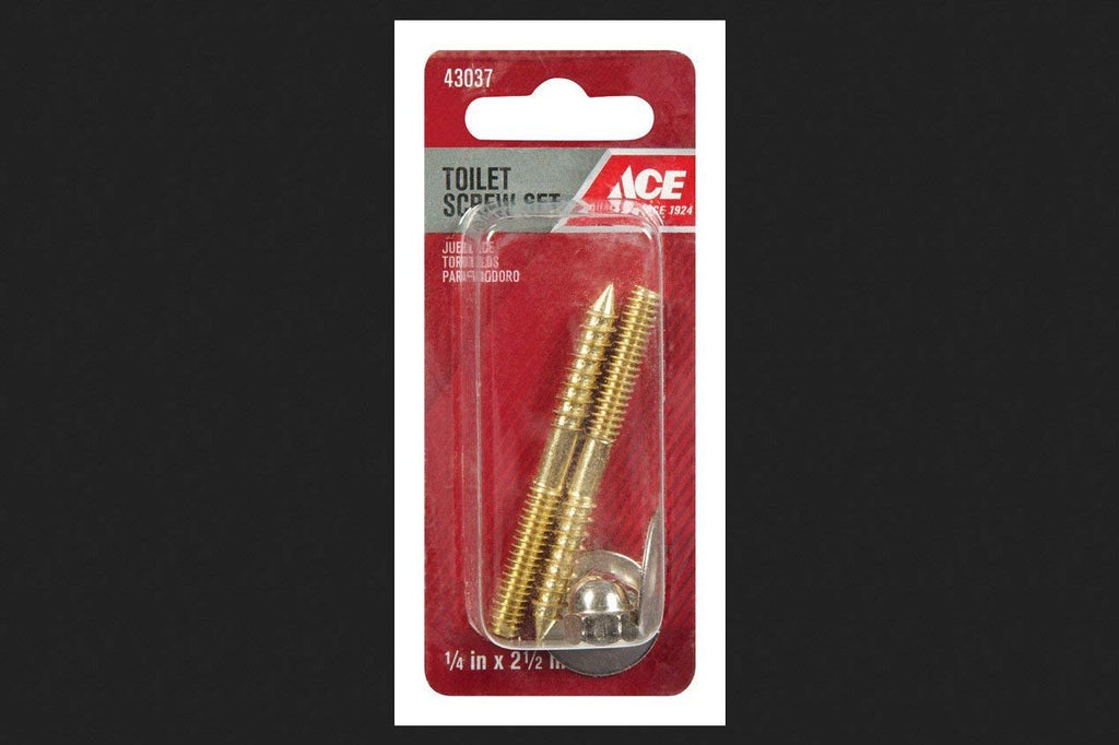 Ace 1/4in x 2-1/2in Toilet Screw Set, 43037 - Jenco Wholesale