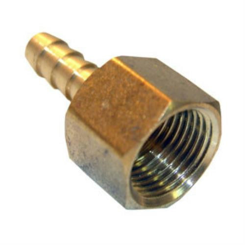 Lasco 3/8-Inch FIP by 1/4-Inch Barb Adapter Air Fitting, Brass, 17-7631 - Jenco Wholesale