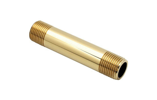 BrassCraft 6-Inch Polished Brass Pipe Nipple, 1/2