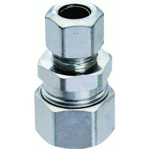 "Do it Straight Connector inlet 5/8"" O.D. 1/2"" Copper x 3/8"" outlet O.D. 456018 - Jenco Wholesale"