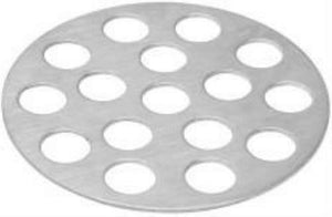 "Danco 1-1/2"" Chrome Flat Sink Strainer #80060 - Jenco Wholesale"
