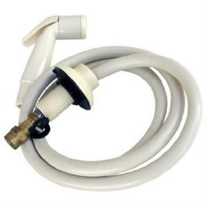 Lasco White Kitchen Spray Hose with matching Hose Guide,08-1527 - Jenco Wholesale