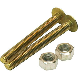 "Partsmaster ProPlus Oval Closet Bolts, 5/16"" x 2-1/4"", Solid Brass, #192258 - Jenco Wholesale"