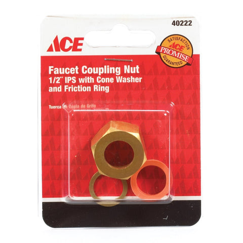 "Danco 1/2"" Faucet Coupling Nut, Cone Washer and Friction Ring, 40222"