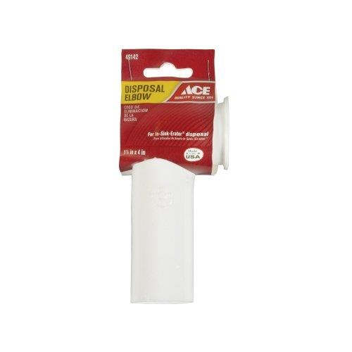 "Ace 1-1/2"" x 4"" Disposal Elbow (White), 49142"