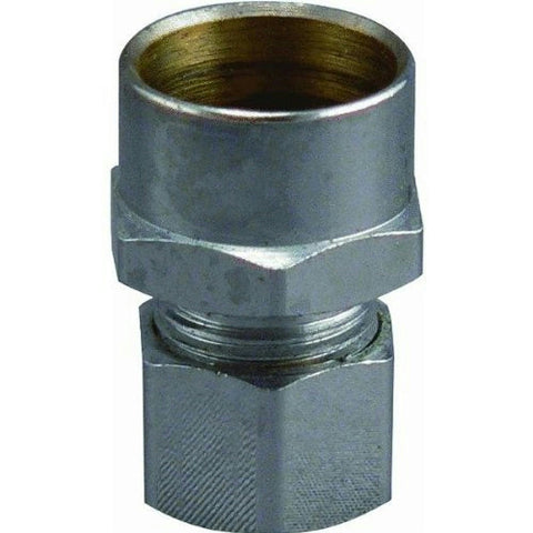 "Do It Straight Connector, Inlet 1/2"" x Outlet 3/8"" (Chrome), 456009 - Jenco Wholesale"