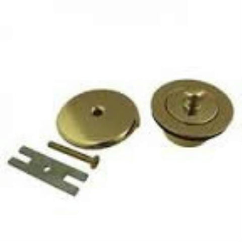 Danco Polished Brass Overflow Plate and Lift and Turn Stopper Kit  #89238 - Jenco Wholesale