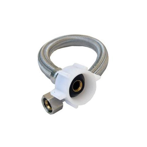 "Lasco Stainless Braided Toilet Water Connector, 1/2""IPS x 9"" Length, 10-0809"