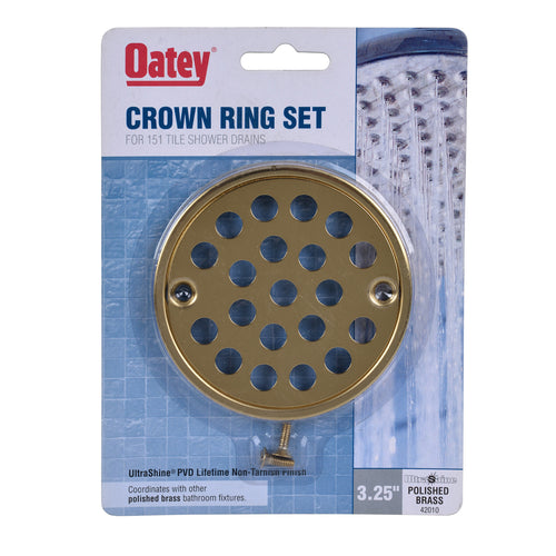 Oatey Crown Ring Set in Polished Brass, 42010 - Jenco Wholesale