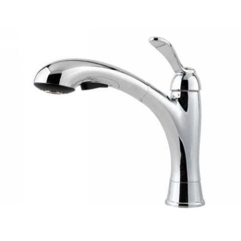 Price Pfister Chrome Clairmont 1-H handle Pullout Kitchen Faucet GT534-CMC - Jenco Wholesale