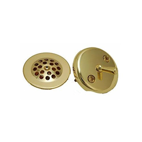 Danco Polished Brass Overflow Plate and Stopper Assembly  #89243