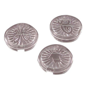 Danco Clear Acrylic Handle Buttons, 3 pack #88014 - Jenco Wholesale
