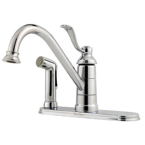 Price Pfister Portland Chrome Single Control Kitchen Faucet GT34-3PC0