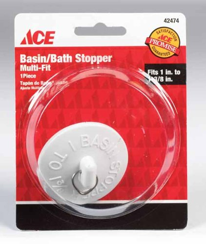 "Ace 1""- 1-3/8"" Basin/Bath Stopper (White), 42474"