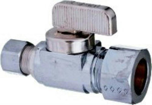 CPI 1/4 Turn Ball Valve 3/8 FIP x 3/8 OD Straight Stop 50122 - Jenco Wholesale