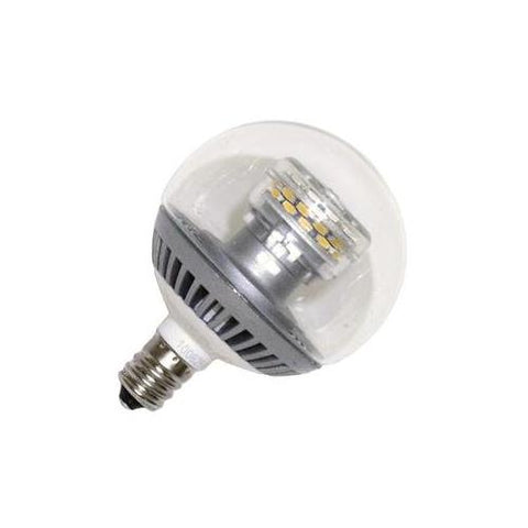 TCP Clear Dimmable 3W Led Candelabra Base G16 Globe Lamp, 2700K Color Temperature, LDCG163WH27K