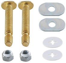 "Load image into Gallery viewer, PlumbShop Snap Off Toilet Bolts, 5/16"" x 2-1/4"", Brass, #PS2107 - Jenco Wholesale"