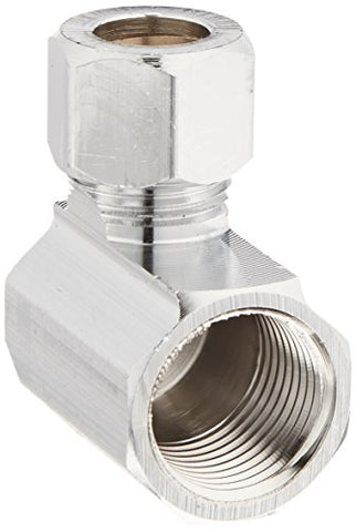 "Do it Angle Connector 3/8"" FIP X 3/8"" OD Outlet"