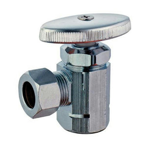 "PlumbCraft 73-323 Angle Valve (3/8"" FIP x 3/8"" Compression Outlet) - Jenco Wholesale"