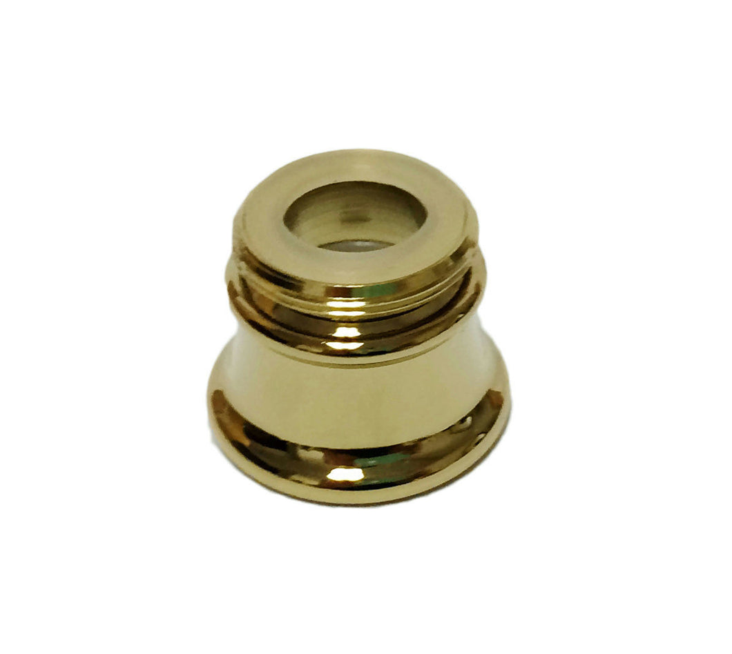Danco Flute Style Designer Dual Thread Aerator, Polished Brass, 89291 - Jenco Wholesale