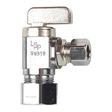Load image into Gallery viewer, Danco Chrome 1/2 in. CPVC Outlet x 3/8 in. Comp. Inlet Angle Stop, 59211