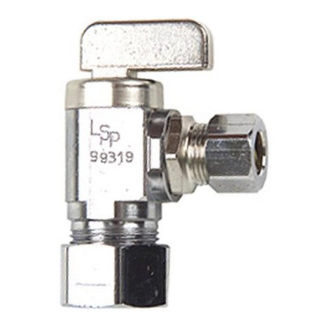 Danco Chrome 1/2 in. CPVC Outlet x 3/8 in. Comp. Inlet Angle Stop, 59211