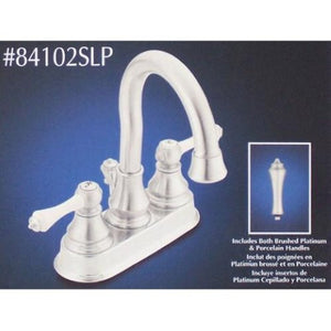 Moen Dorsey Centerset Brushed Platinum Bathroom Faucet  84102SLP - Jenco Wholesale