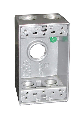 Preferred Industries MQ-B50-5 1-Gang Metal Box with Five 1/2-Inch Threaded Outlets