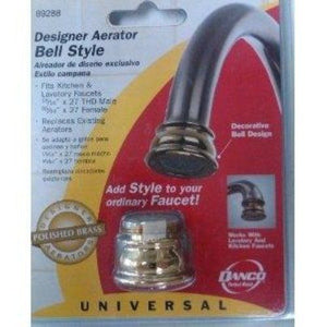 Danco Bell Style Polished Brass Designer Faucet Aerator 89288 - Jenco Wholesale