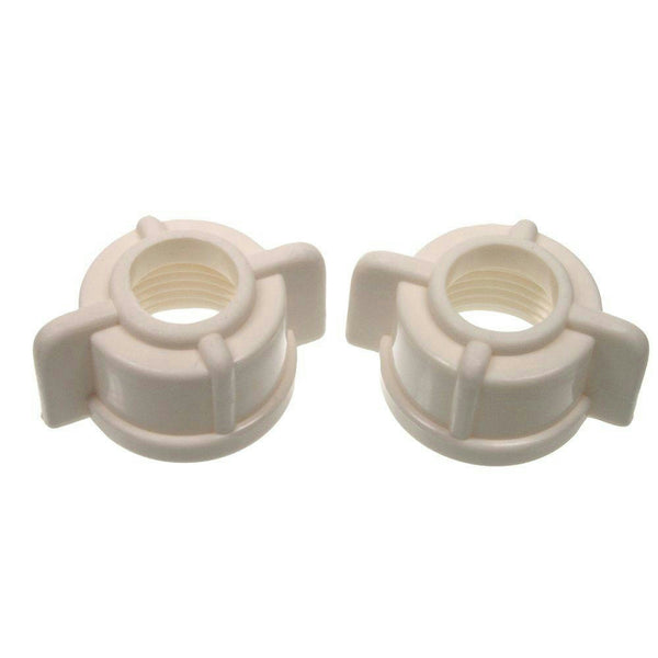 "Danco White Plastic 1/2"" IPS Tailpiece Nuts #88410"