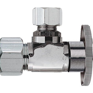 "Do it 456232 Angle Valve inlet 1/2"" nom copper outlet 1/4""O.D. - Jenco Wholesale"